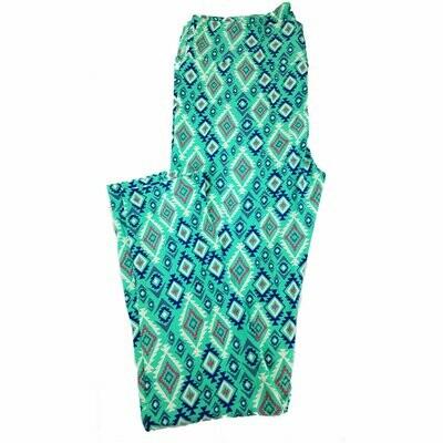 LuLaRoe Tall Curvy TC Trippy Geometric Striped Leggings fits 12-18