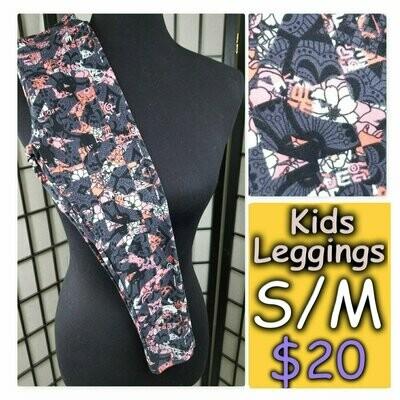 Kids Small-Medium (SM) Floral LuLaRoe Leggings fits sizes 2-8