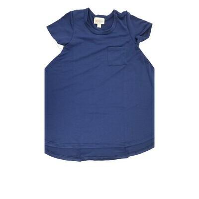 Kids Scarlett LuLaRoe Periwinkle Blue Solid w/ Pocket Swing Dress Size 2 fits kids 2T-4