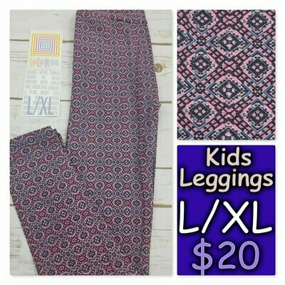 Leggings Kids Large-XL (LXL) LuLaRoe Geometric fits sizes 8-14