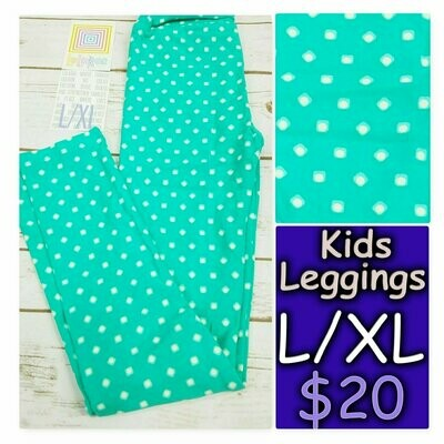 Leggings Kids Large-XL (LXL) Polka Dots LuLaRoe fits sizes 8-14