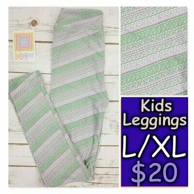 Leggings Kids Large-XL (LXL) Stripes LuLaRoe fits sizes 8-14