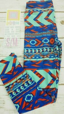 Kids Small-Medium (SM) Geometric LuLaRoe Leggings fits sizes 2-8