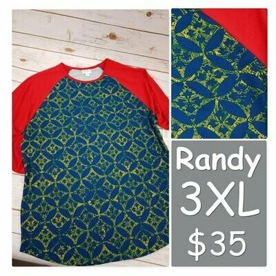RANDY Tee XXX-Large (3XL) LuLaRoe Womens Shirt