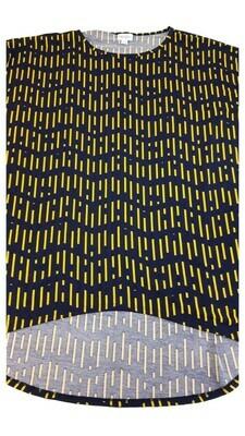 IRMA Black and Yellow Large (L) LuLaRoe Tunic fits 16-18