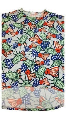 IRMA American Flag Stature of Liberty Red White and Blue Large (L) LuLaRoe Tunic fits 16-18