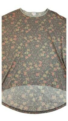 Irma LuLaRoe Grey Purple Pink Green Multicolor Geometric Floral Medium (M) Tunic fits 12-14