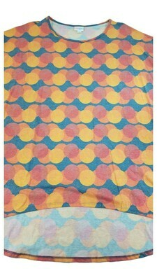Irma LuLaRoe Tunic Circles XX-Large (2XL) Multicolor fits 24-26
