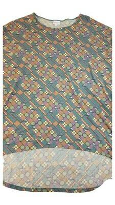 Irma LuLaRoe Tunic Circles XX-Large (2XL) Multicolor fits 24.99-26