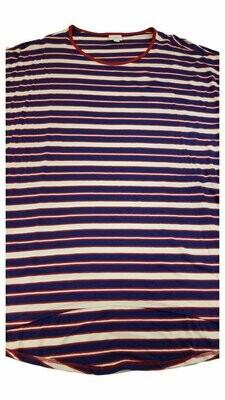 Irma LuLaRoe Tunic Dark Blue and White Stripe X-Large (XL) Multicolor fits 20-22