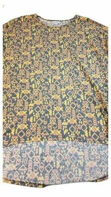 Irma LuLaRoe Tunic X-Large (XL) Multicolor Geometric Floral Fits Womens Sizes 20-22