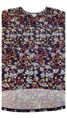Irma LuLaRoeTunic XXX-Large (3XL) Multicolor Geometric Floral Fits Womens Sizes 26+