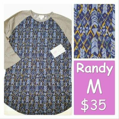 RANDY Tee Medium (M) LuLaRoe Womens Shirt