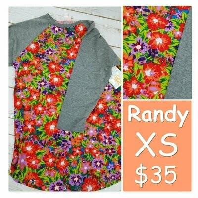 RANDY Tee X-Small (XS) LuLaRoe Womens Shirt