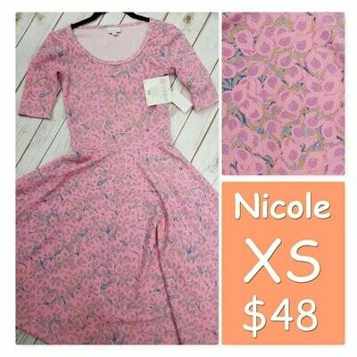 NICOLE X-Small (XS) LuLaRoe Womens Dress