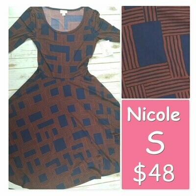 NICOLE Small (S) LuLaRoe Womens Dress