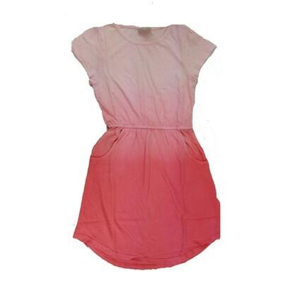 Kids Mae LuLaRoe Solid Pink Hombre Pocket Dress Size 8 fits kids 7-8
