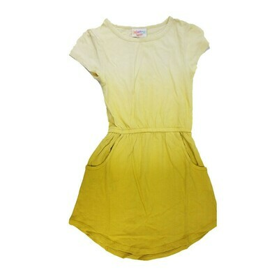 Kids Mae LuLaRoe Solid Yellow Hombre Pocket Dress Size 4 fits kids 3-4