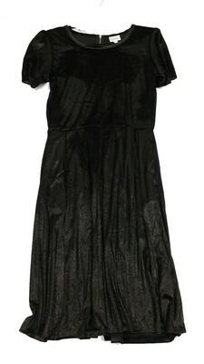 AMELIA Black and Silver Velvety X-Large (XL) LuLaRoe Womens Dress for sizes 18-20