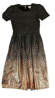 AMELIA Black and Rose Gold Small (S) LuLaRoe Womens Dress for sizes 6-8