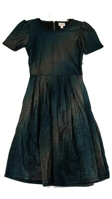 AMELIA Rainbow Metallic X-Small (XS) LuLaRoe Womens Dress for sizes 2-4