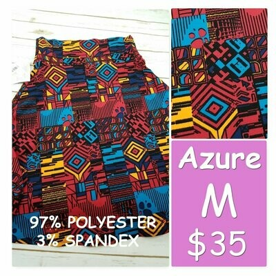 AZURE Medium (M) LuLaRoe Skirt fits 6-8