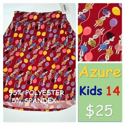 AZURE Kids 14 LuLaRoe Womens Skirt