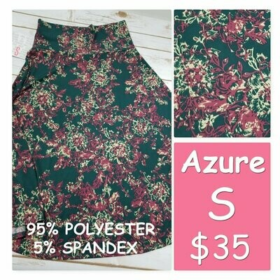 AZURE Small (S) LuLaRoe Womens Skirt