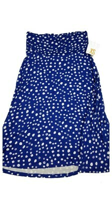 AZURE X-Small (XS) Blue and White Polka Dot LuLaRoe Skirt Sizes 00-0