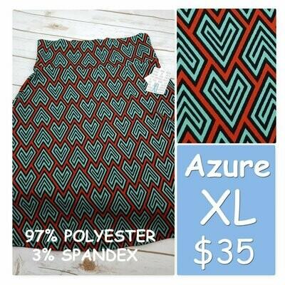AZURE XLarge (XL) LuLaRoe Womens Skirt