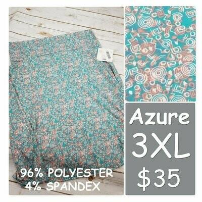 AZURE XXXLarge (3XL) LuLaRoe Womens Skirt