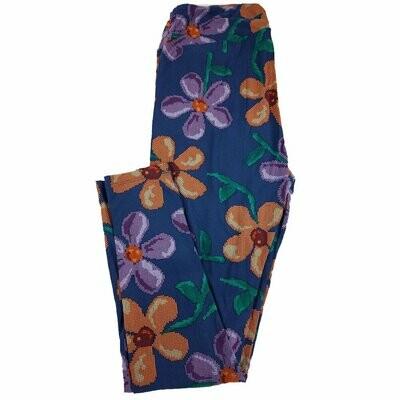 LuLaRoe Tall Curvy TC Floral Leggings fits 12-18