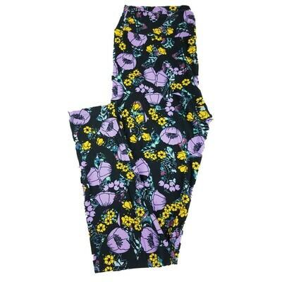 LuLaRoe Tall Curvy TC Geometric Floral Leggings fits 12-18