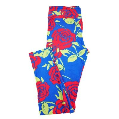 LuLaRoe Tall Curvy TC Roses Floral Leggings fits 12-18