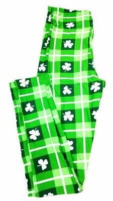 One Size (OS) Luck of the Irish St Patricks LuLaRoe Leggings fits sizes 2-10
