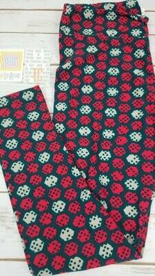 LuLaRoe Tall Curvy TC Polka Dot Leggings fits sizes 12-18