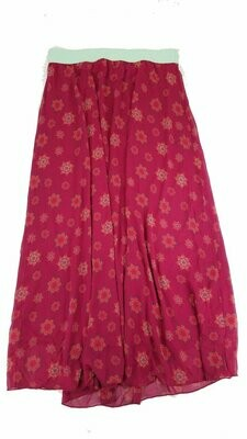 LuLaRoe Lucy Maroon and Cream X-Large (XL) Floor Length Women's Skirt fits Sizes 16-18