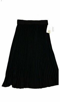 LuLaRoe Jill Black X-Small (XS) Accordion Women's Skirt fits Sizes 2-4