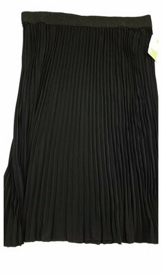 LuLaRoe Jill Black XXX-Large (3XL) Accordion Women's Skirt fits Sizes 26-28