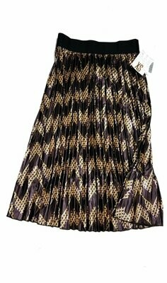 LuLaRoe Jill Purple and Gold  X-Small (XS) Accordion Women's Skirt fits Sizes 2-4