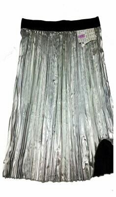LuLaRoe Jill Silver and Black Medium (M) Accordion Women's Skirt fits Sizes 10-12