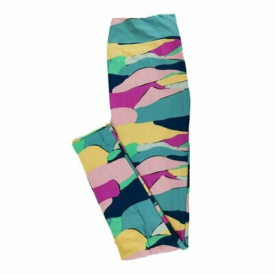 One Size (OS) Geometric LuLaRoe Leggings fits sizes 2-10