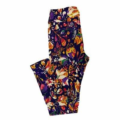 One Size (OS) Paisley LuLaRoe Leggings fits sizes 2-10