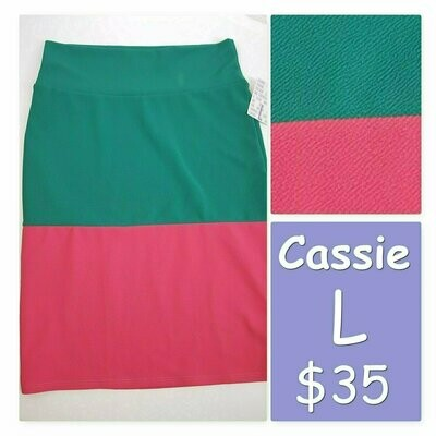 Cassie Large (L) LuLaRoe Womens Knee Length Pencil Skirt fits 14-15.99