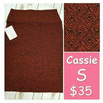 Cassie Small (S) LuLaRoe Womens Knee Length Pencil Skirt fits 6-8