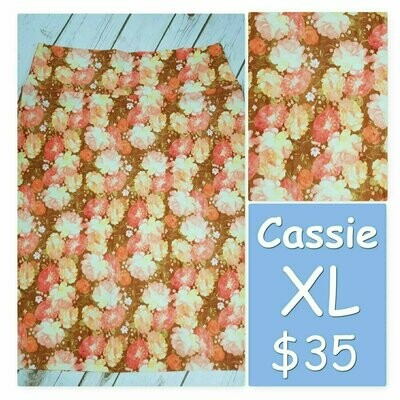 Cassie X-Large (XL) LuLaRoe Womens Knee Length Pencil Skirt fits 18-20