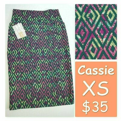 Cassie X-Small (XS) LuLaRoe Womens Knee Length Pencil Skirt fits 2-4