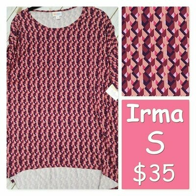 IRMA Small (S) LuLaRoe Womens Tunic fits 8-10