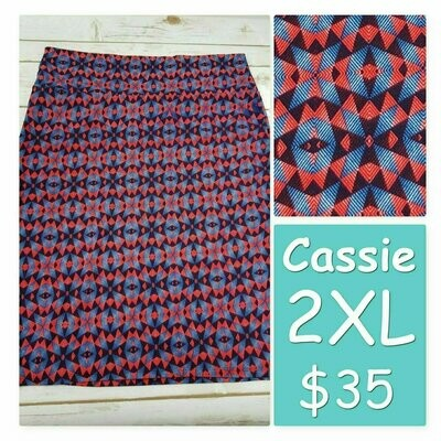 Cassie XX-Large (2XL) LuLaRoe Womens Knee Length Pencil Skirt fits 22-24