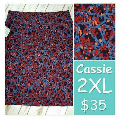 Cassie XX-Large (2XL) LuLaRoe Womens Knee Length Pencil Skirt fits 22-24.99